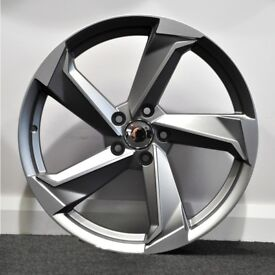 18in A9 Style Alloys & Tyres. Suit Audi A3,Volkswagen Caddy,Golf,Jetta,Passat,Seat Leon 5x112