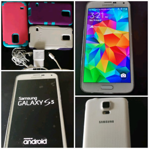 Samsung S5  16 gb with accessories! Unlocked!