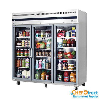 Everest Esgr3 75 3 Glass Door Reach-in Refrigerator