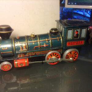 Vintage Old Battery Operated Western Engine Train Modern Toy Lit