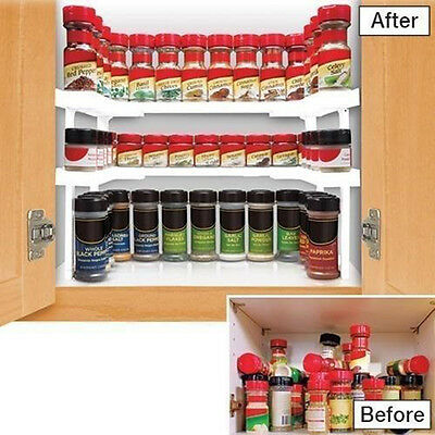 Spicy Shelf Spice Jars Rack and Stackable Organizer