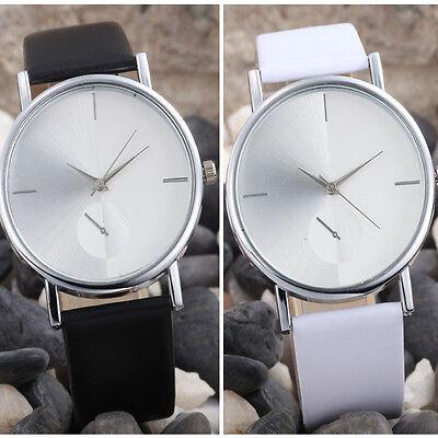 Hot Women's Fashion Design Dial Leather Band Analog Quartz Wrist Watch