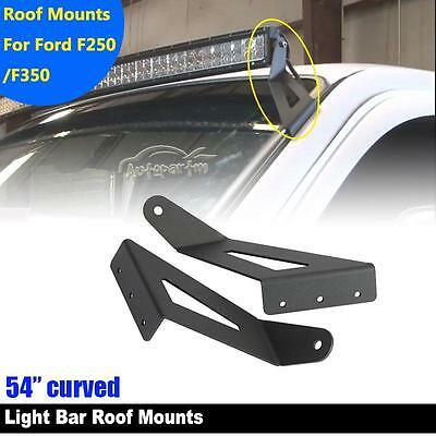 F250 led barebay 1 54inch curved led light bar mounting bracket fit for ford f250 f350 super duty mozeypictures Choice Image