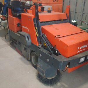 Powerboss Commander T82 Compact Ride-On Power sweeper
