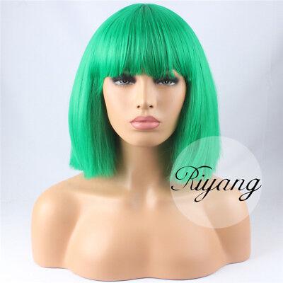 Day Wig (2-5 Days Ship 12 Colors BOB Cosplay Wig Full Bangs Short Yaki Straight)