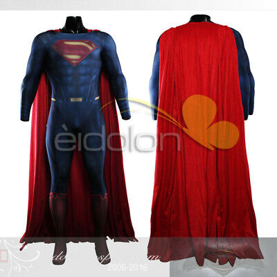 Superman VS Batman: Dawn of Justice Superman Printing Cosplay Costume Customized](Superman Custom Costume)