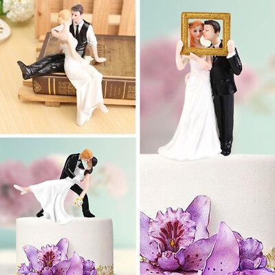 8C11 Elegant Synthetic Resin Bride&Groom Cake Topper Wedding Decoration Figurine (Elegant Cake Toppers)