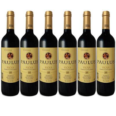 Paulus Vino Tinto Crianza - D.O.C Rioja Botellas 6 x 750 ml-Total:...