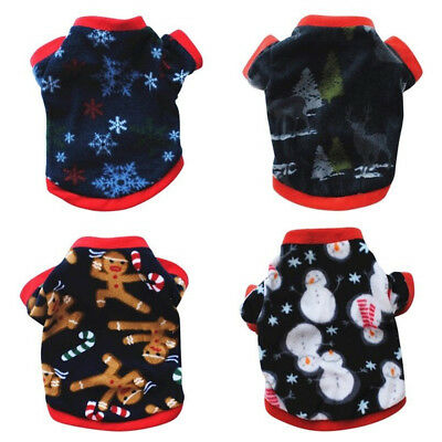 Pet Dog Hoodie Clothes Jacket Coat Puppy Cats Doggy Fleece Shirt Sweater US