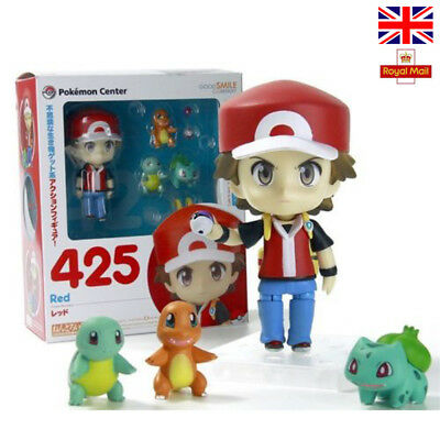 4'' Pokemon Ash Ketchum Bulbasaur Charmander Squirtle Action Figures Anime Toys