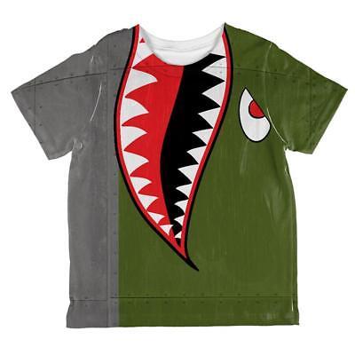 Halloween WWII Flying Tiger Fighter Shark Nose Art All Over Toddler T Shirt](Halloween Art Toddlers)