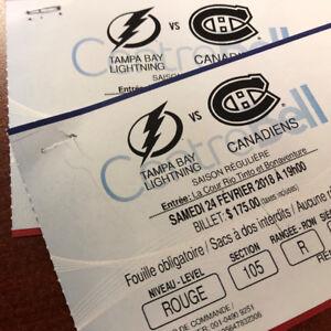 Lightning de Tampa Bay @ Canadiens de Montréal