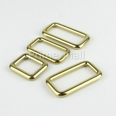 Brass Rectangle Loop Square D Ring Buckle Bag Luggage Belt Keeper wholesale D-ring Belt Loop