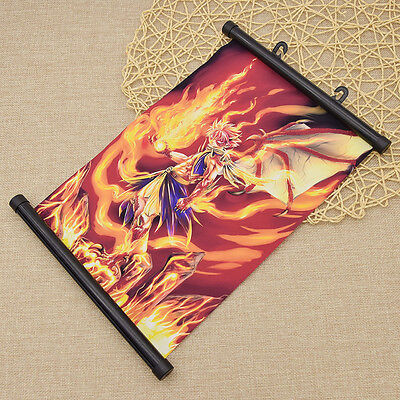 Anime Fairy Tail Flame Burning Poster Wall Hanging Scroll Fans Gift Home Decor