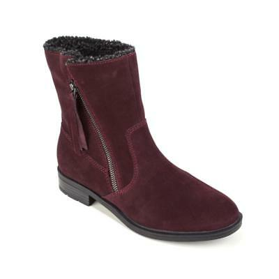 Sporto, Girl  Water-Resistant Suede Tassel Boot in Wine, 7.5M - Girl In Red Boots