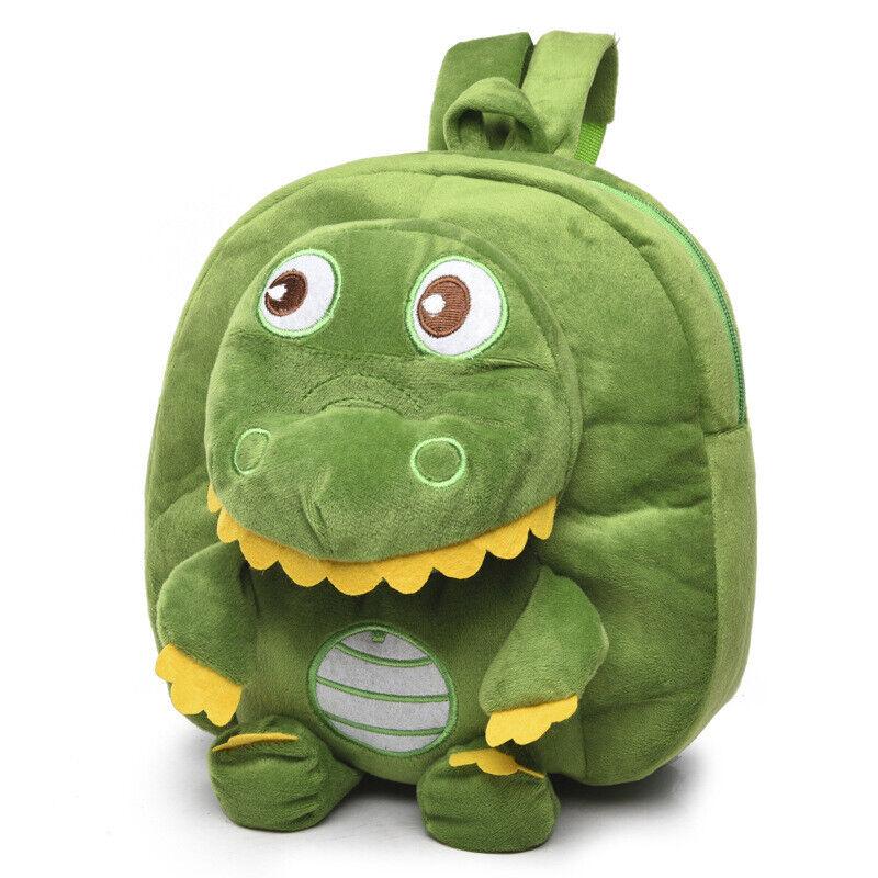 Kid Boy Girl Cartoon Dinosaur Plush Backpack School Bag Toddler Rucksack Nursery