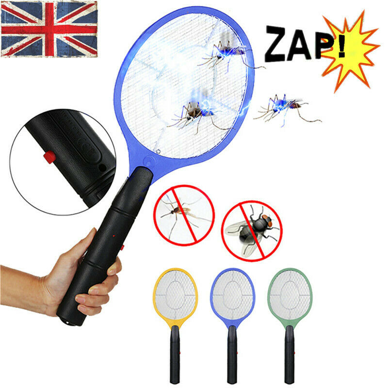 Electric Fly Insect Killer Racket Bug Zapper Mosquito Wasp Swatter Electronic UK