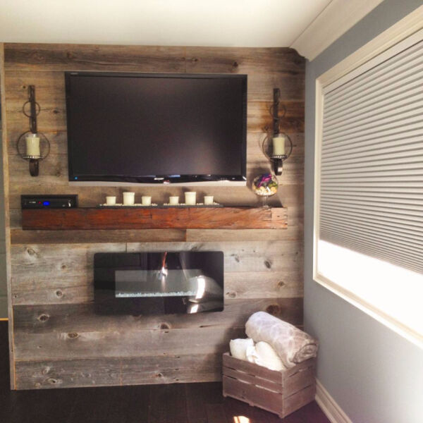 Used Barn Board Accent Wall Living Room: RECLAIMED BARN BOARD