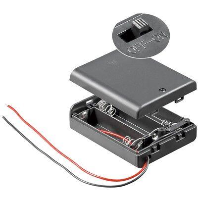 Batterie-/Akku-Halter für 3x Mignon-Zellen AA mit Kabel, Gehäuse und Schalter