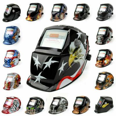 Solar Powered Auto-darkening Welding Helmet Grinding Tig Welder Mask Us Stock A3