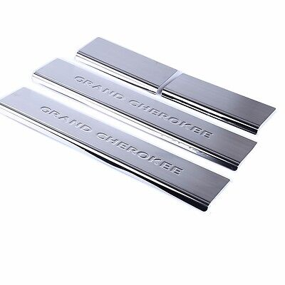 For 2011-2019 Jeep Grand Cherokee Stainless Steel Door Sill Scuff Plate 4pcs/set ()