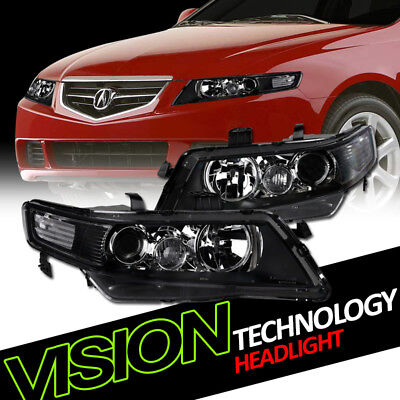 JDM Black Projector Headlights Headlamps Parking Signal Lamps NB 04-08 Acura TSX