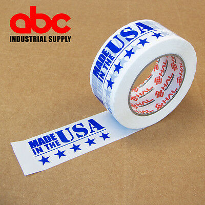 1 Roll 2 Made In Usa Printed Shipping Packing Tape 330 Feet 110 Yards