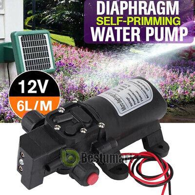 12v Water Pump 130psi Self Priming Pump Diaphragm High Pressure Rv Auto Switch