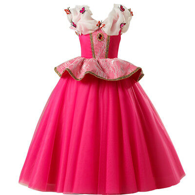 Sleeping Beauty Princess Aurora Party Dress kids Costume Dress for girls ZG