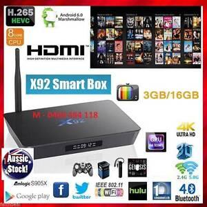 3GB/16GB S912 X92 Android Kodi 17.3 tv box bluetooth octa core 4K Noble Park Greater Dandenong Preview