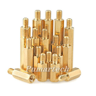 New 2.5mm Brass Standoff Spacer M2.5 Male X M2.5 Female Thread 6mmfree Shipping