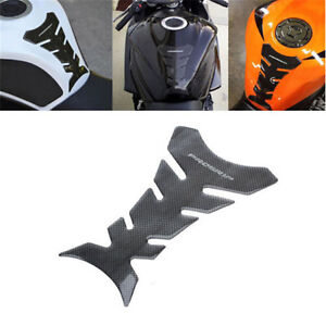 3D Carbon Fiber Motorcycle Gel Oil Gas Fuel Tank Pad Protector Decal Sticker New