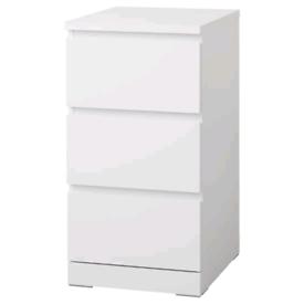 Ikea 3 drawer malm table. Like new