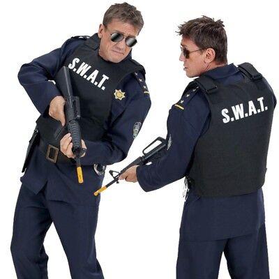 SWAT Weste Kostüm Erwachsene Polizei Spezialeinheit SEK Weste 2856 (Swat Polizei Weste Kostüm)