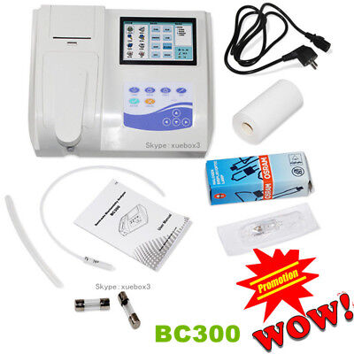 7 Lcd Contec Bc300 Touch Semi-automatic Blood Biochemistry Analyzer Printer Ce
