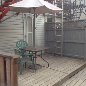 Lg basement private deck own laundry dishwasher parking,Oct 1