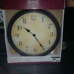 NEW IN BOX! Large 45cm Hanging Clock. Never Opened