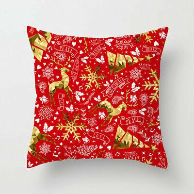 "18x18"" Christmas Pillow Case Sofa Car Throw Cushion Covers Home Decor"