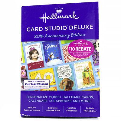 Hallmark - Card Studio 2019 Deluxe 20th Anniversary Edition - Windows - 43595
