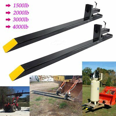 Clamp On Lw Pallet Forks 1500lb2000lb3000lb4000lb For Bucket Loaders Tractor
