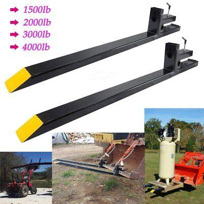 60 43 Clamp On Pallet Forks 1500lb2000lb3000lb4000lb Bucket Loaders Tractor