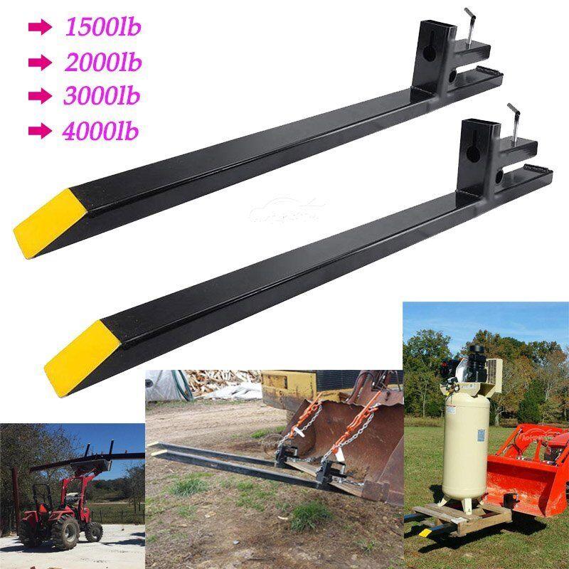 Clamp on LW Pallet Forks 1500lb/2000lb/3000lb/4000lb for bucket loaders tractor