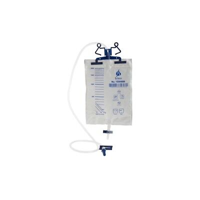 Urinary Drainage Urine Bag 2000 ml Sterile Double Plastic Hanger & Stabilizer ()
