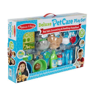 NEW: Melissa & Doug Deluxe Pet Care PlaySet - 32 Pieces