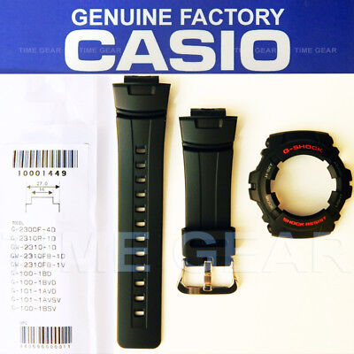 CASIO GENUINE FACTORY G-SHOCK BLACK BAND AND BEZEL COMBO SET FOR: G-100 & G-101 ()