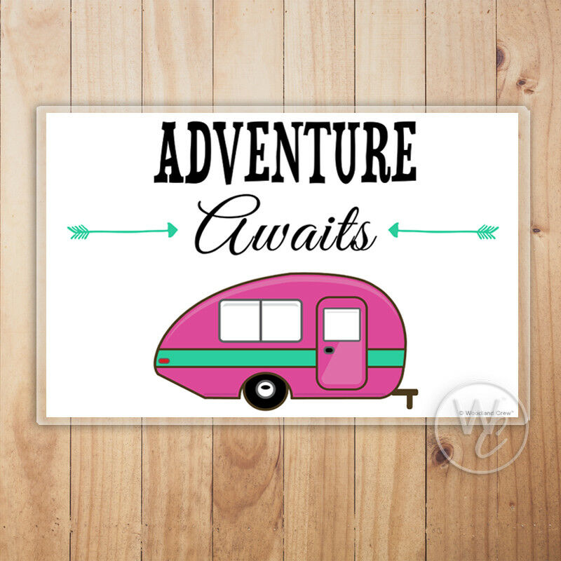 Camper Placemat, Adventure Awaits Laminated Placemat, Table