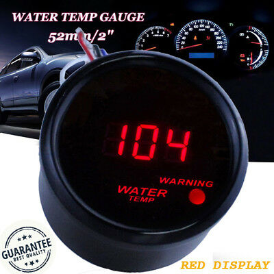 "2"" 52mm Digital LED Fahrenheit Water Temp Temperature Gauge/Sensor 104-300F HS"