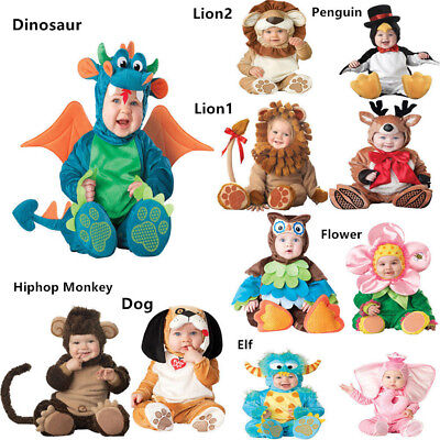 Halloween Baby Costume Infant Baby  Jumpsuit Plush Party Newborn Cosplay Toddler