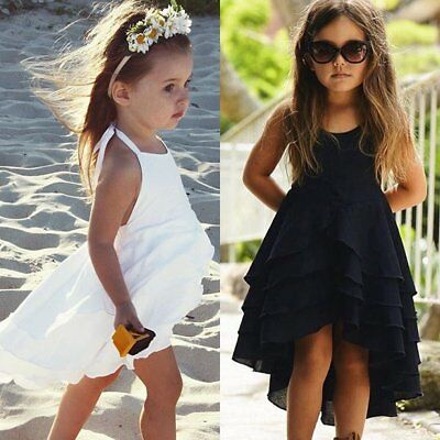 Toddler Kids Baby Girl Princess Dress Wedding Pageant Party Tutu Dresses Clothes