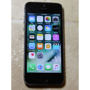 Unlocked iPhone 5S 16GB, USED, in working condition black color